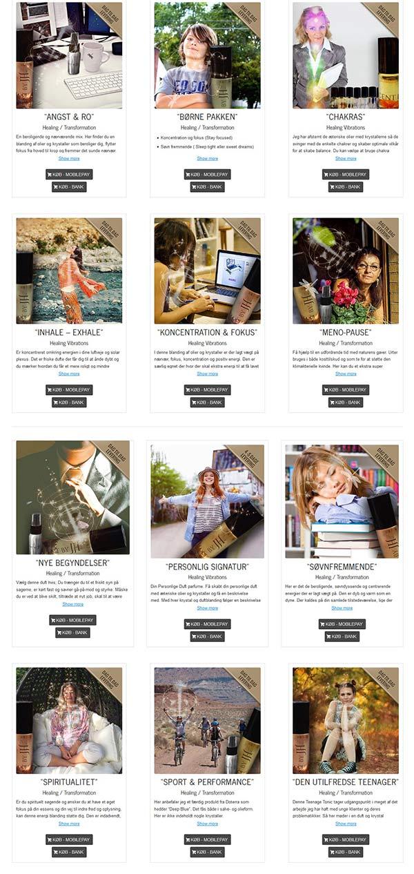 JetteHolm.dk grafisk slider til afklaring af produktfordele