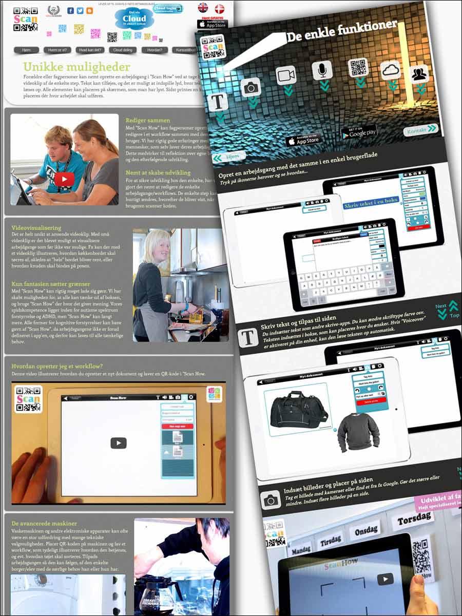 Screenshots af hjemmeside før