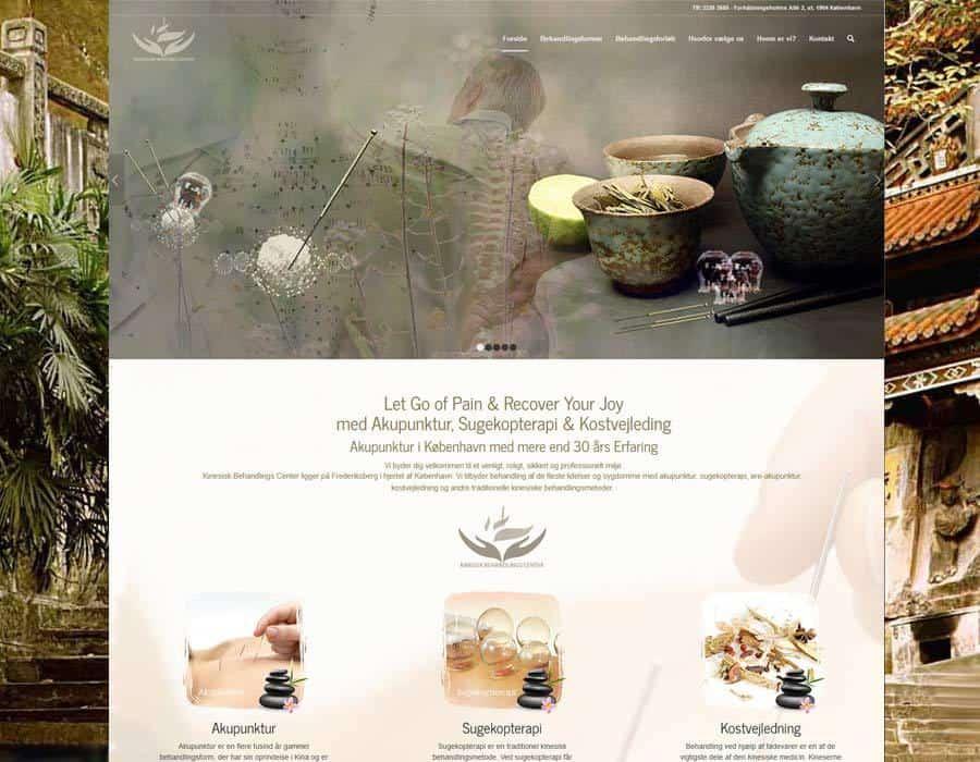 Forsiden pc visning af ny hjemmeside design