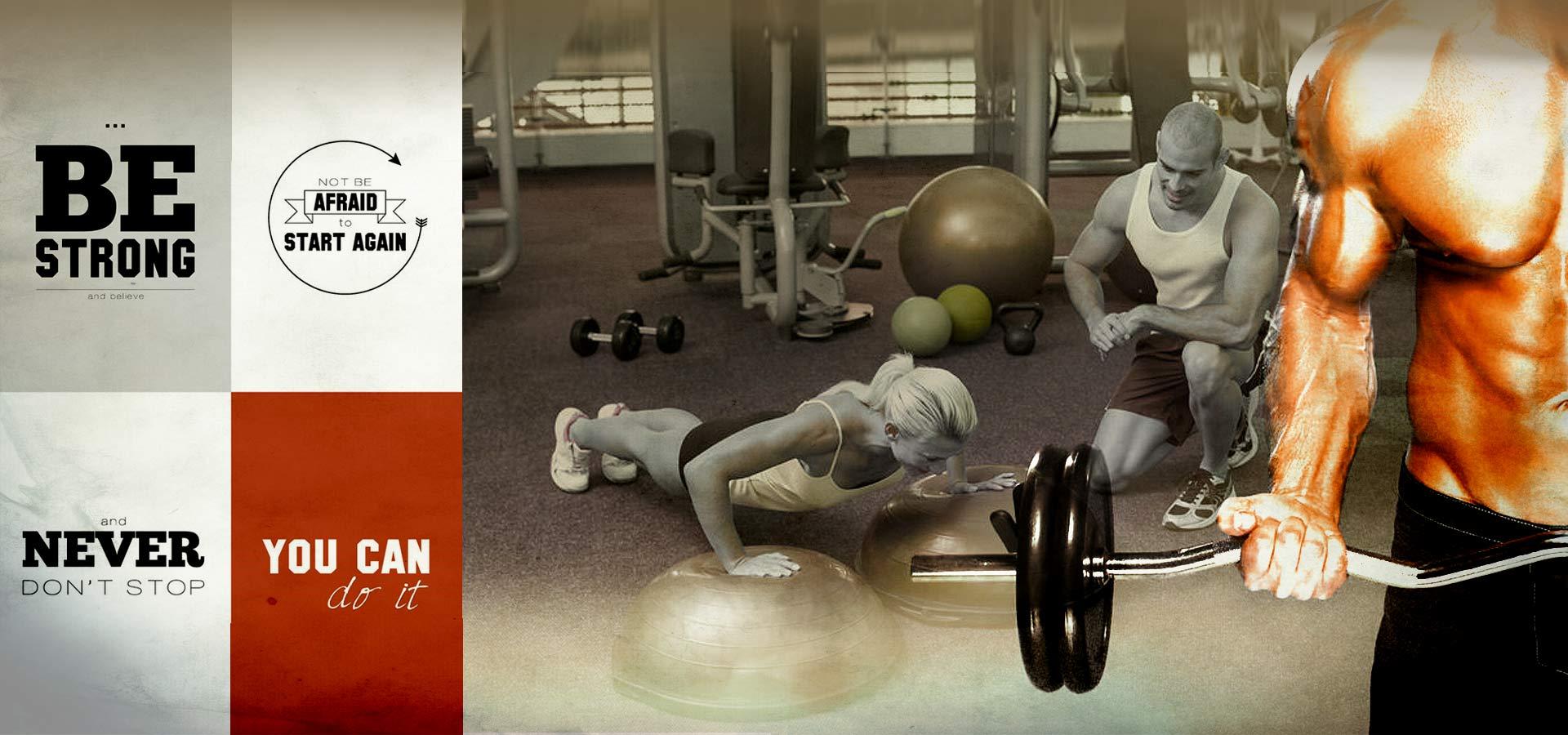MyGym Fitnesscenter grafisk slider til personlig træner