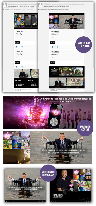 Nyhedsbrev, facebook og video grafiske
