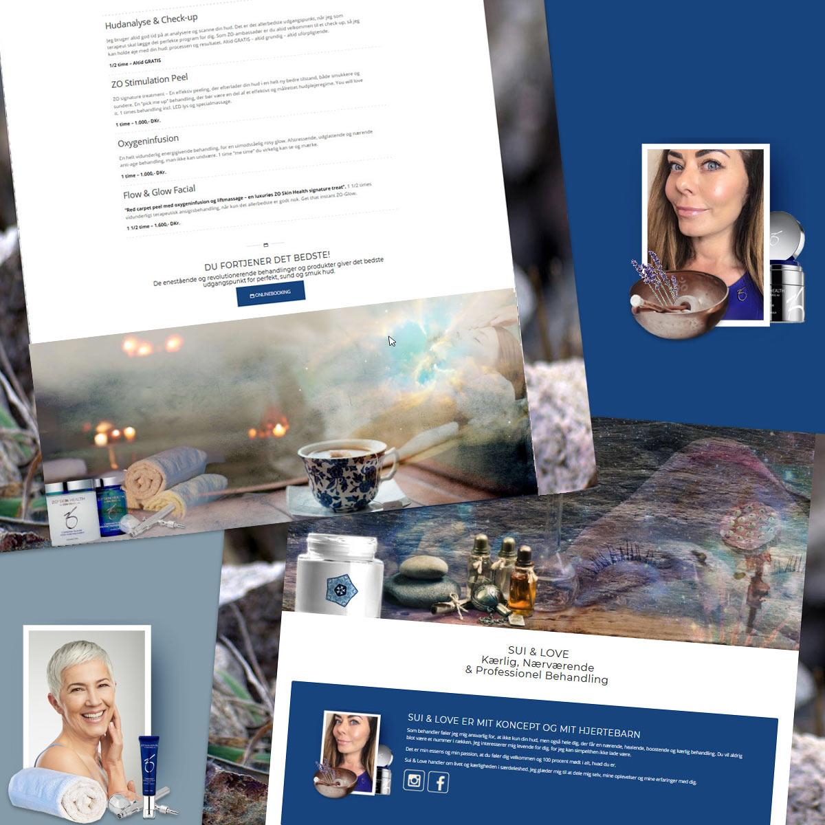 Hudplejebehandling ny hjemmesidesider fra KlinikSui.dk