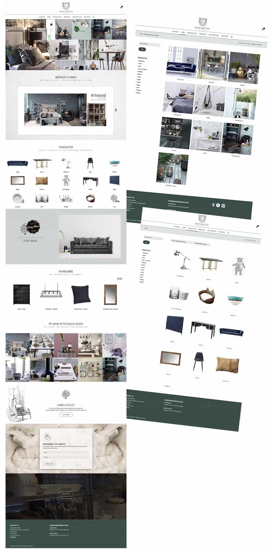 Hjemmeside sider efter design