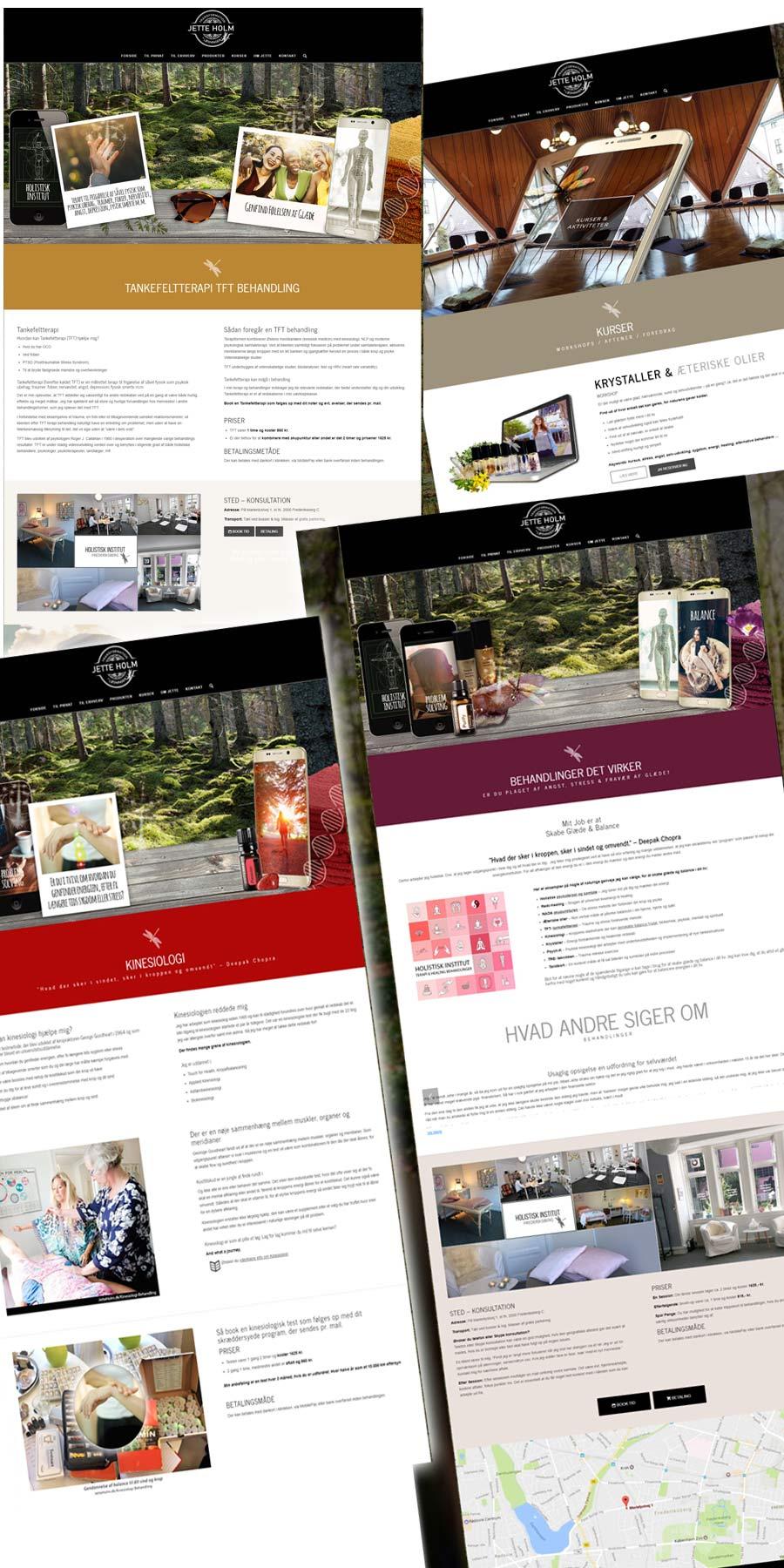 JetteHolm.dk side screenshots fra det nye hjemmesiden