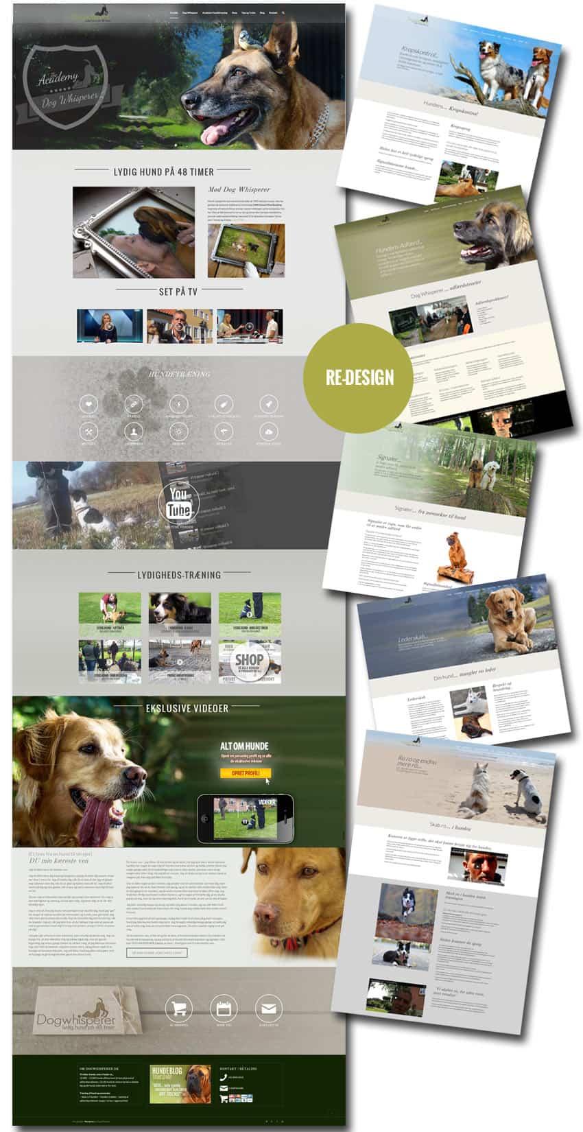 Efter screenshot af hundetræning hjemmeside sider