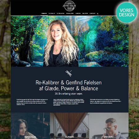JetteHolm.dk wordpress hjemmeside design til terapi og healing