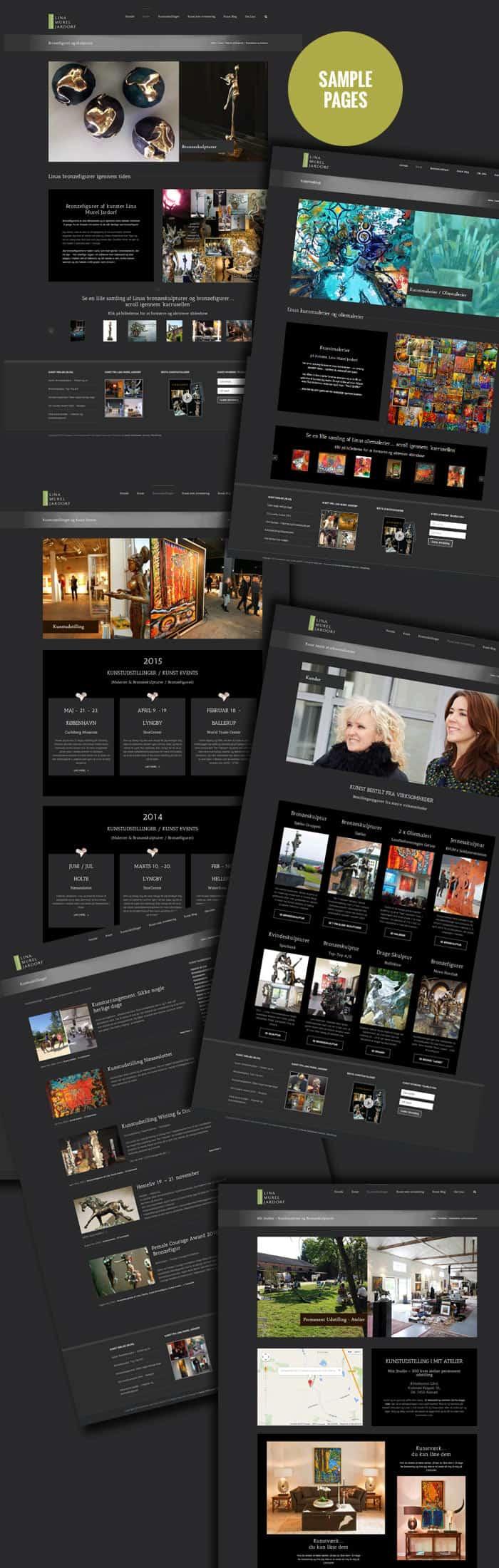 Ny hjemmeside sider screenshots