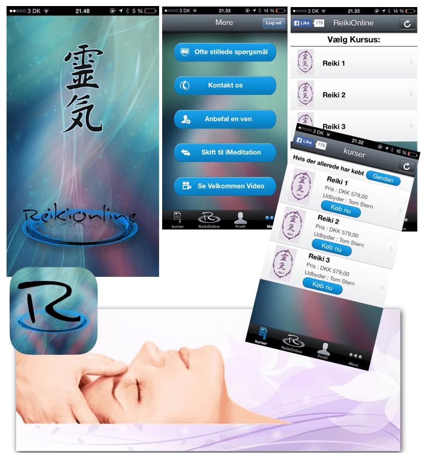 Før screenshots af healing app design
