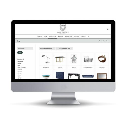 Woocommerce webshop til boligindretning og møbler