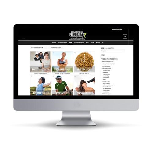 Woocommerce webshop til sundhed produkter