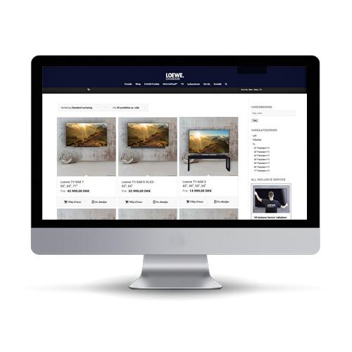Woocommerce webshop til tv og radio forhandler